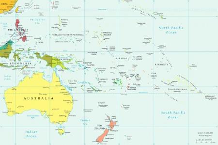 Mapa da Oceania. Fonte: CIA [domínio público]
