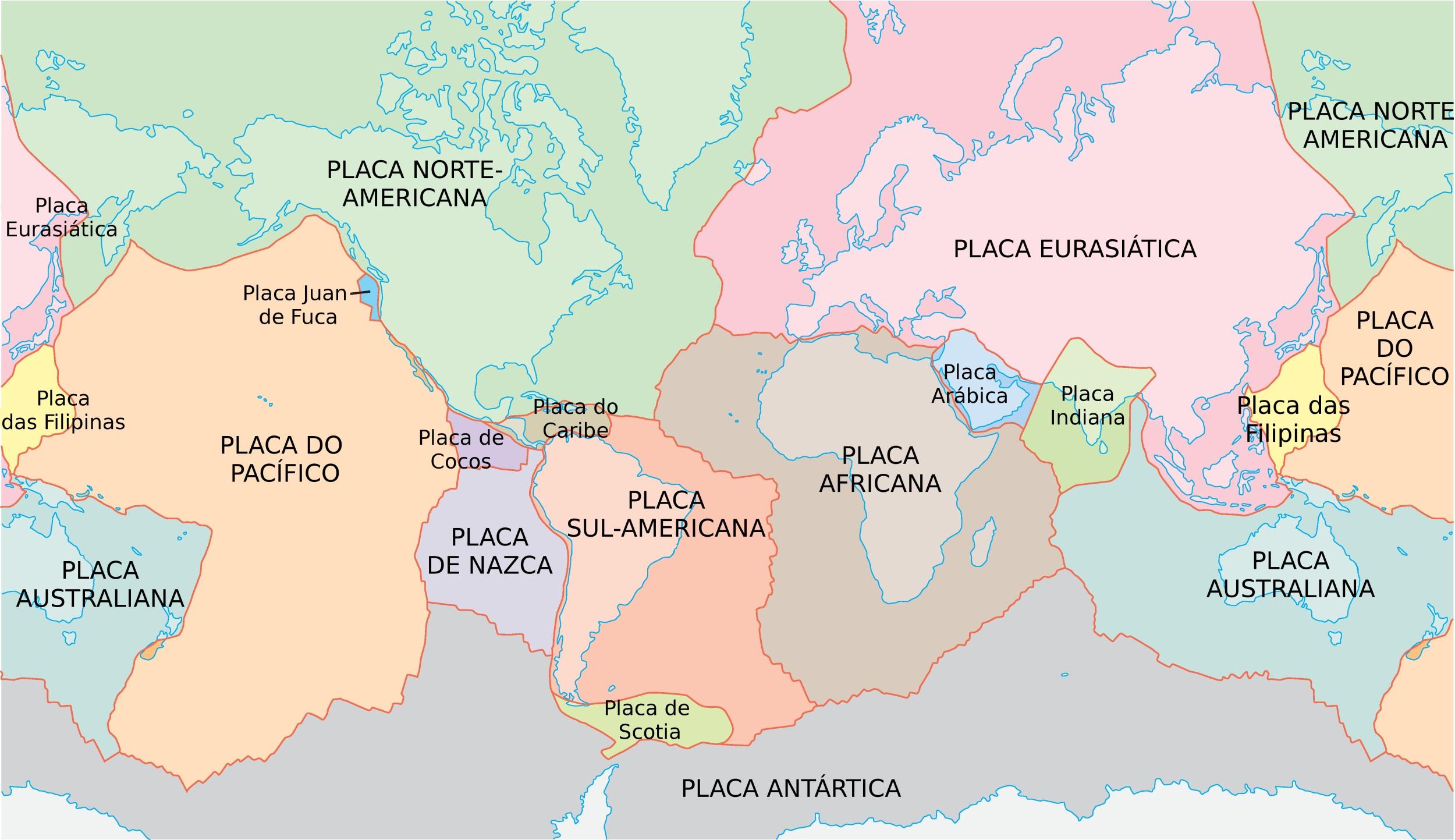 Placas Tectonicas Geografia E Geologia Infoescola