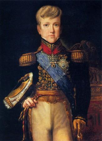 Dom Pedro II quando criança, aos 12 anos. Pintura de Félix Taunay, 1837. Fonte: Wikimedia Commons