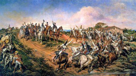 Pintura de Pedro Américo (1888) retrata a declaração da independência do Brasil.