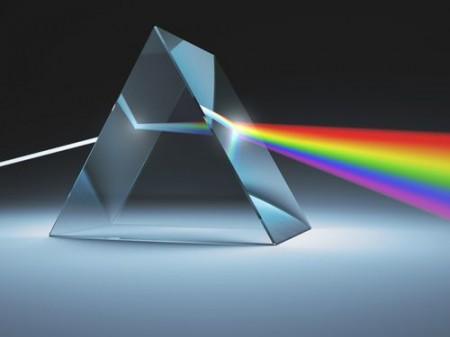 Dispersão da luz. Ilustração: ktsdesign / Shutterstock.com