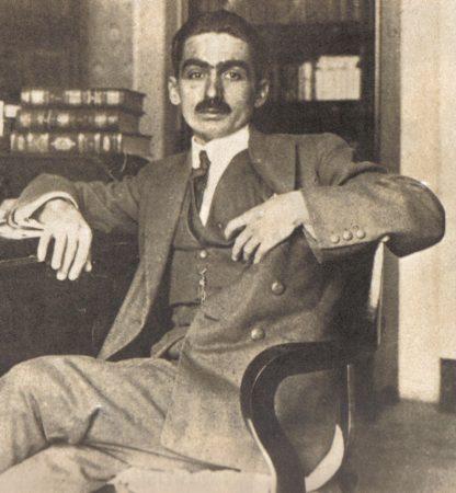 Monteiro Lobato. Foto de 1920 (aproximadamente). Foto: Coleção Novo Século [Editora Abril] / via Wikimedia Commons
