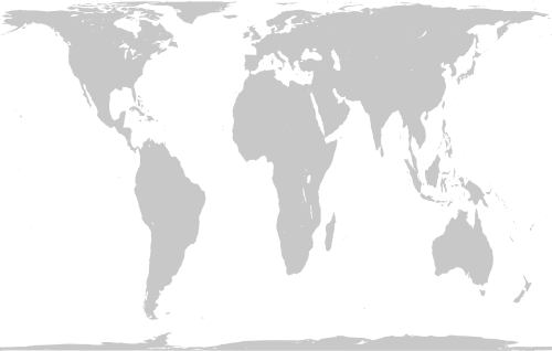 Projeção de Peters. Ilustração: Mike Linksvayer [Public domain], via Wikimedia Commons
