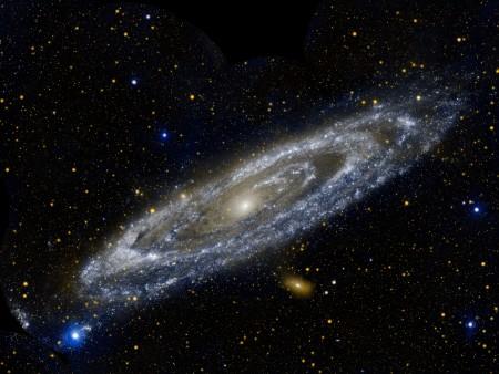 Galáxia Andrômeda (M31), está a 2,5 milhões de anos-luz da Terra. Foto: NASA