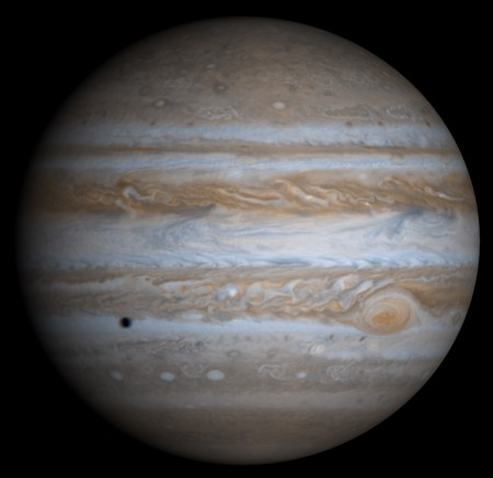 Júpiter. Ilustração: NASA.