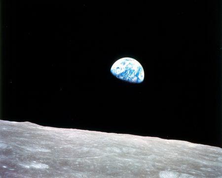 Planeta Terra visto da Lua, em 24/12/1968, pela Apollo 8. Foto: NASA.