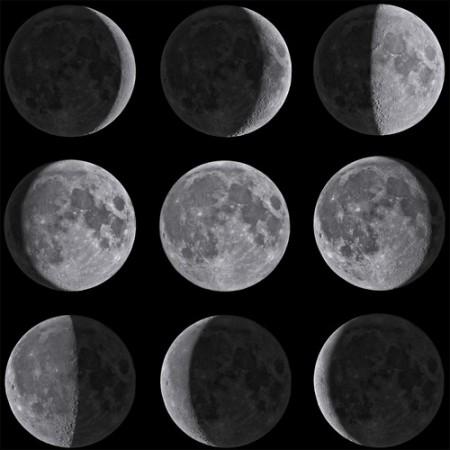 As fases da Lua. Foto: AstroStar / Shutterstock.com