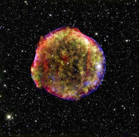 Supernova de Tycho (SN 1572). Foto: NASA