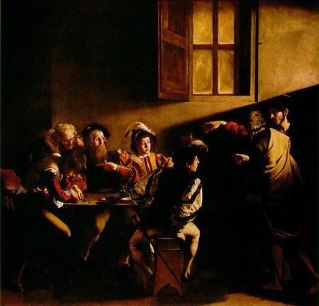 A Vocação de São Mateus. Obra de Caravaggio (1599-1600).