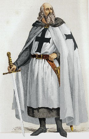 Jacques de Molay. Ilustração: Bibliotheque Nationale de France [Public domain], via Wikimedia Commons