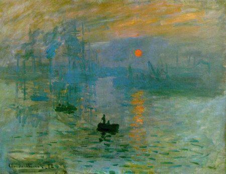 Impressionismo: Nascer do Sol, obra de Claude Monet (1872).