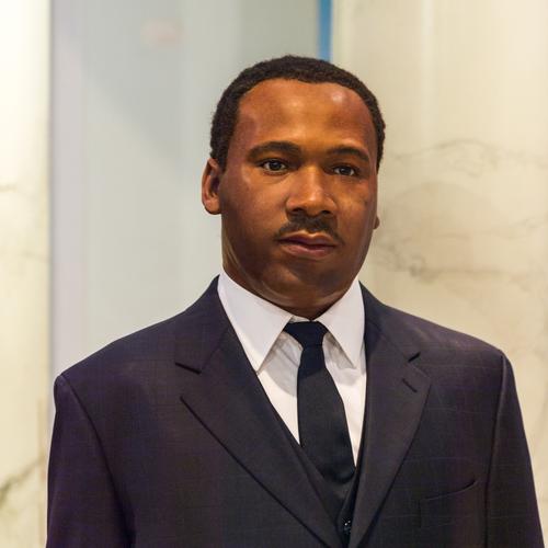 Estátua de cera de Martin Luther King Jr. no museu Madame Tussaud, em Nova York. Foto: Anton_Ivanov / Shutterstock.com