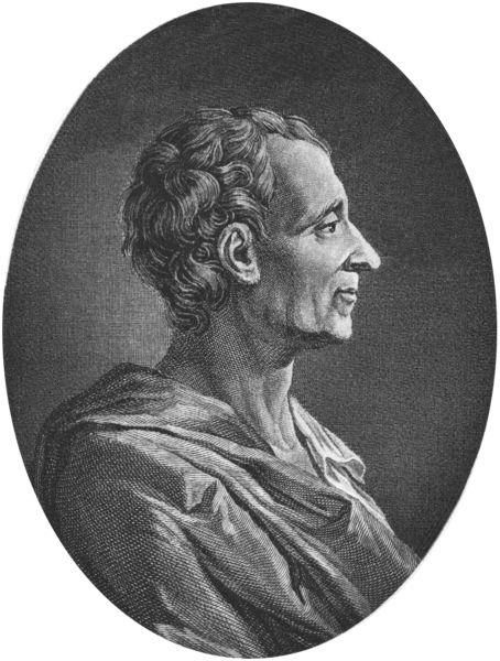 Montesquieu, um dos principais filósofos do Iluminismo. Obra de autor desconhecido.