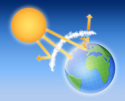 A camada de ozônio protege a Terra de raios ultravioleta provenientes do Sol. Ilustração: artiomp / Shutterstock.com