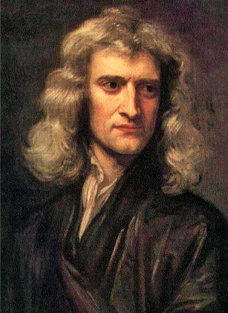 Isaac Newton. Pintura de Gottfried Kneller (1689).