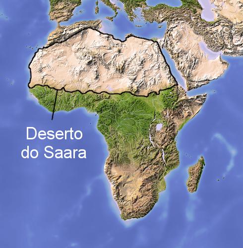 Resultado de imagem para deserto do saara mapa