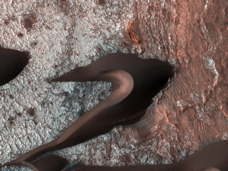 Curiosidade: dunas no planeta Marte. Foto: Sonda HiRISE / NASA/JPL/University of Arizona