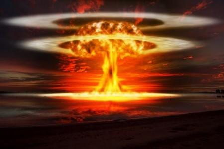 Explosão atômica. Ilustração: Keith Tarrier / Shutterstock.com