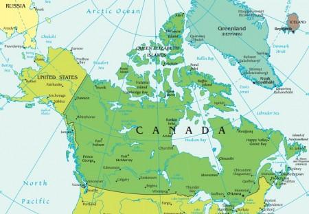Mapa do Canadá. Fonte: CIA