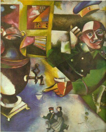 """O soldado bebe"", obra de Marc Chagall (1912)."