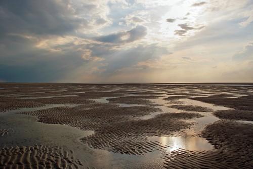 Foto de uma maré baixa.