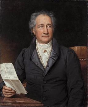 Goethe. Pintura de Joseph Karl Stieler, 1828.
