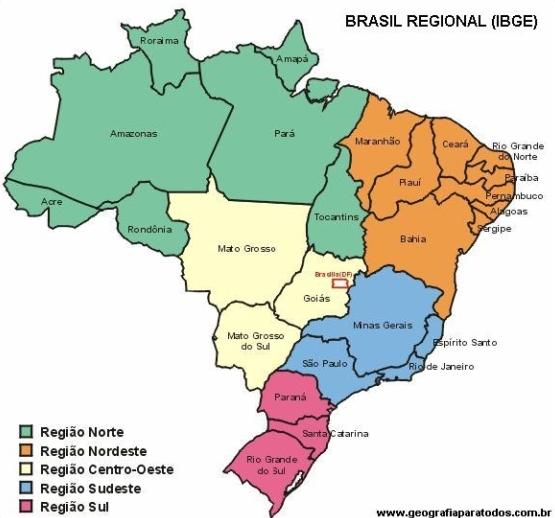 Muito Regiões e Estados Brasileiros - InfoEscola SY29