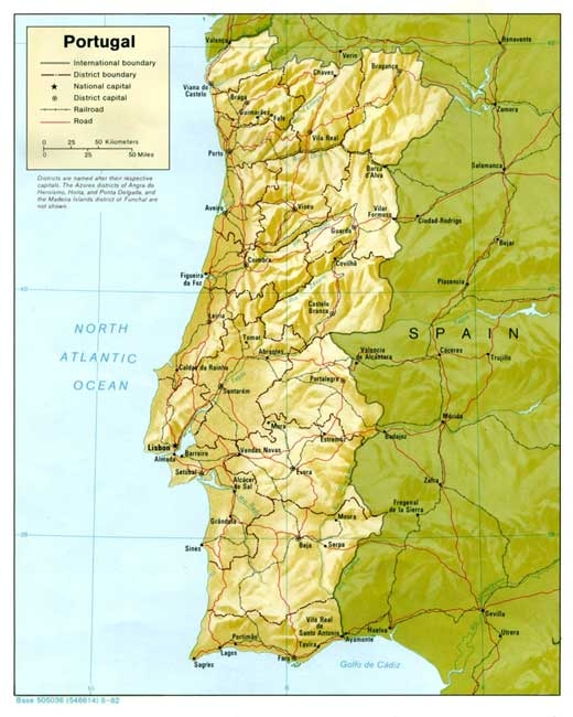 serras de portugal continental mapa Geografia de Portugal   InfoEscola serras de portugal continental mapa