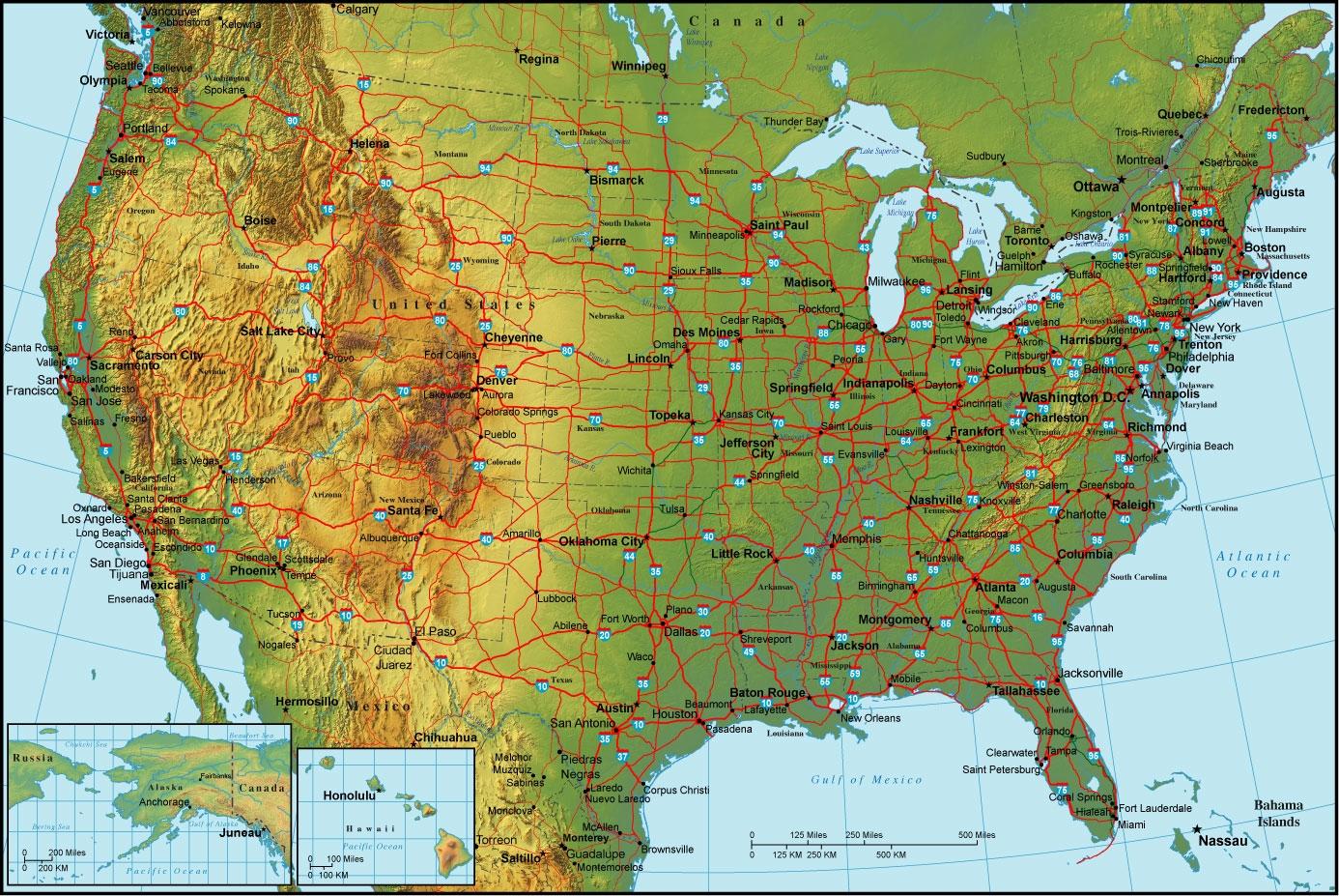 Detailed Map United States on Idaho Railroad Maps