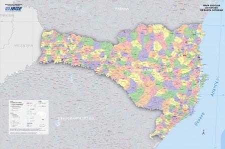 Mapa político de Santa Catarina. Fonte: IBGE