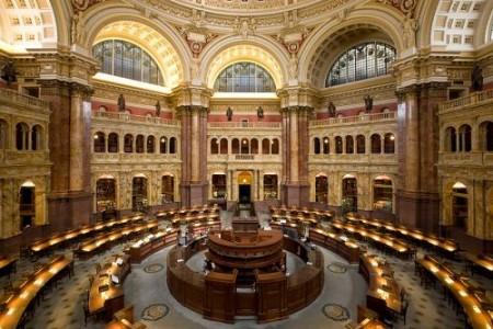 Biblioteca do Congresso dos Estados Unidos. Foto: Carol M. Highsmith [Public domain], via Wikimedia Commons