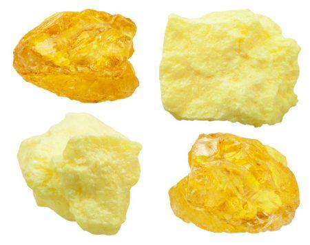 Minerais contendo enxofre. Foto: vvoe / Shutterstock.com