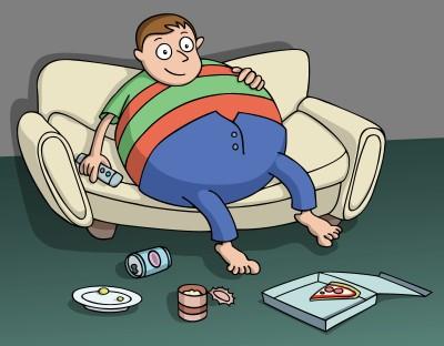Sedentarismo. Ilustração: Gil C. / Shutterstock.com