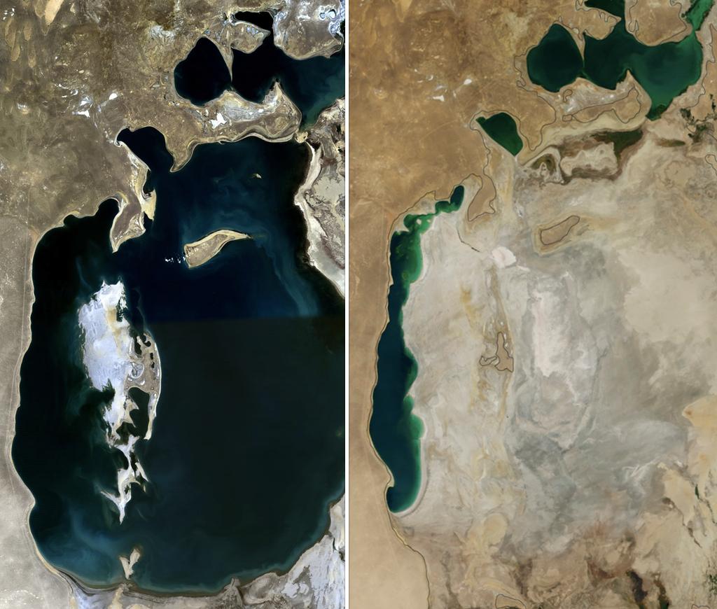 Região do Mar de Aral que virou deserto. Foto: Daniel Prudek / Shutterstock.com