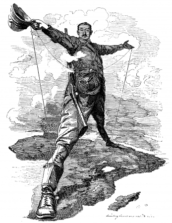Imperialismo na África. Ilustração: Edward Linley Sambourne (1844–1910) / Gutenberg.org [domínio público]