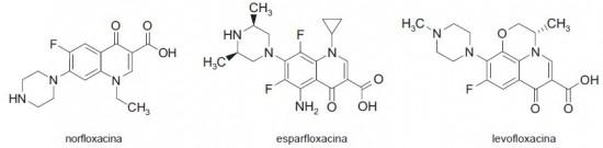 norfloxacina esparfloxacina levofloxacina