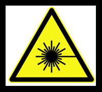 Advertência de segurança para lasers.