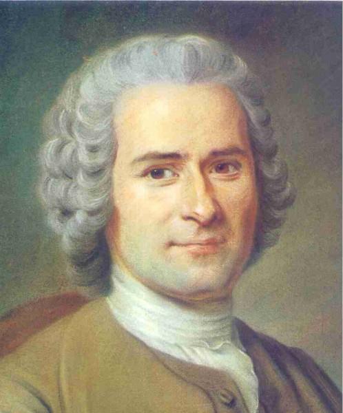 Jean Jacques Rousseau, um dos principais filósofos do Iluminismo. Pintura de Maurice Quentin de La Tour.