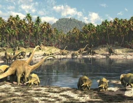 Os dinossauros viveram no período Jurássico. Ilustração: Computer Earth / Shutterstock.com