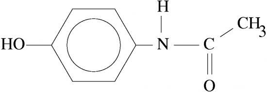 paracetamol molecula