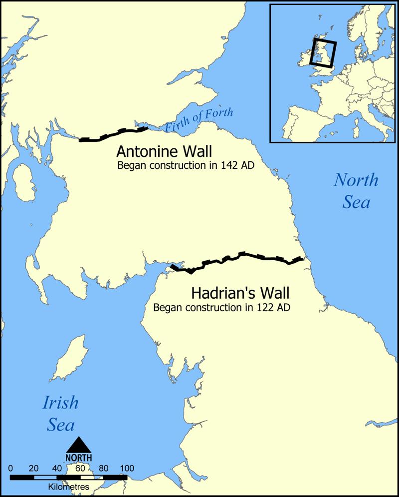 Muralha de adriano civiliza o romana infoescola for A muralha de adriano