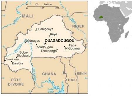 Mapa de Burkina Faso. Fonte: CIA.gov [domínio público]