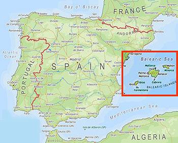 mapa de espanha e ilhas baleares Ilhas Baleares   Espanha   InfoEscola mapa de espanha e ilhas baleares