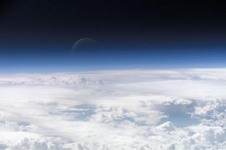 Atmosfera terrestre. Foto: NASA.