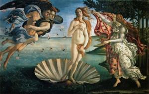 O Nascimento de Vênus - Pinturas