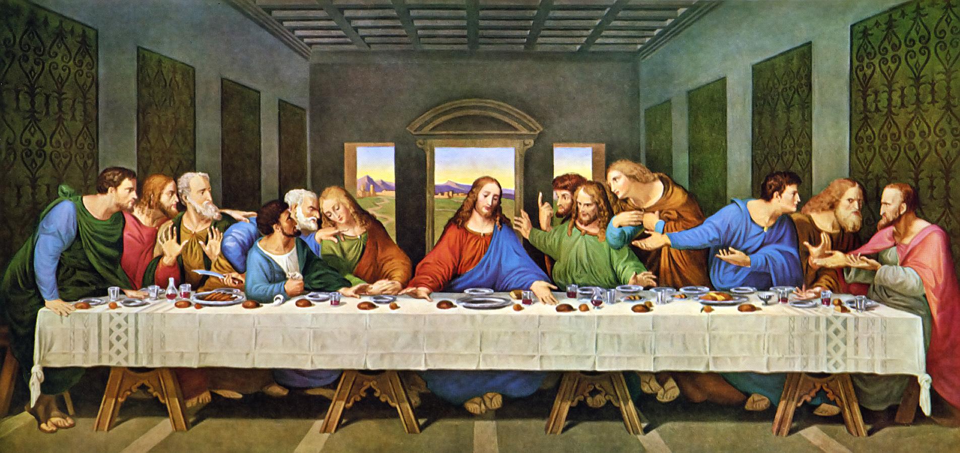 The last supper restored leonardo da vinic
