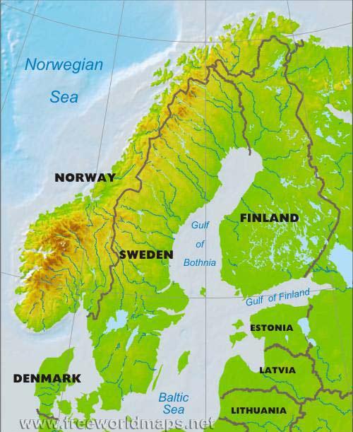 Resultado de imagen de peninsula escandinava