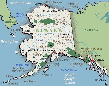 alasca mapa Alasca   Estado dos EUA   InfoEscola alasca mapa