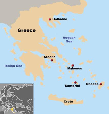 mapa da grecia e suas ilhas Ilha de Creta   Grécia   Geografia   InfoEscola mapa da grecia e suas ilhas