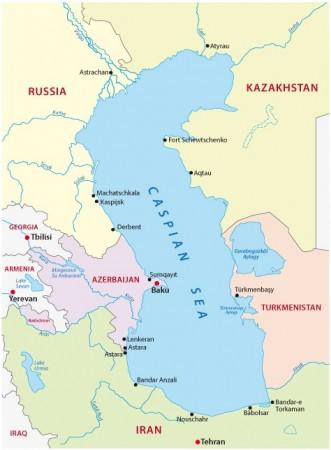 Mar Cáspio. Ilustração: Rainer Lesniewski / Shutterstock.com